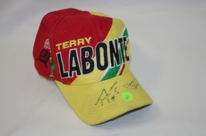 This hat was signed at Bristol by Terry Labonte.